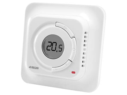 Thermostat for underfloor heating, with display